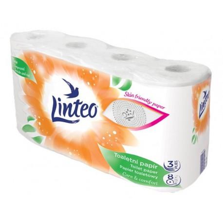 Toaletní papír Linteo satin bílý 8 rolí 3 vrstvy 15 m