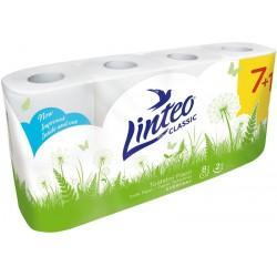 Toaletní papír Linteo classic bílý 7+1 role 2 vrstvy