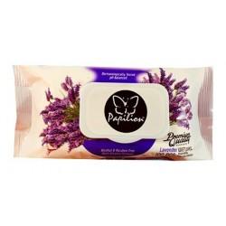 Papilion vlhčené ubrousky lavender 100 klip