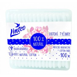 Papírové vatové tyčinky Linteo 100 ks box