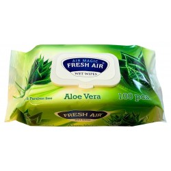 Fresh Air vlhčené ubrousky 100 ks klip aloe vera