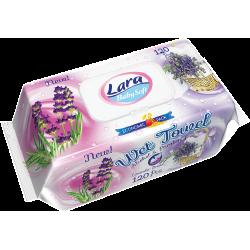 LARA vlhčené ubrousky 120 ks klip Lavender