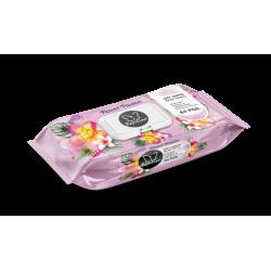 Papilion vlhčené ubrousky Pink Flowers 64ks klip