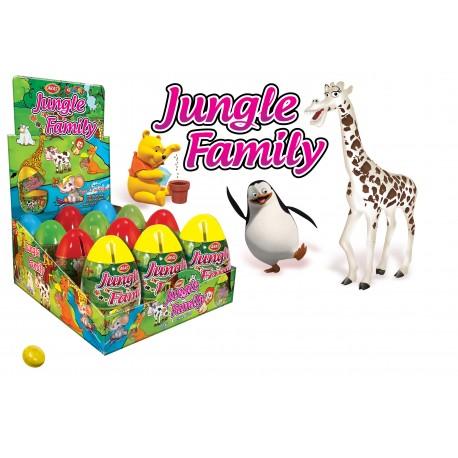 Jungle Family pokladnička 10g-Plastové vajíčko s hračkou