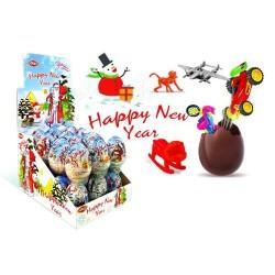 Happy New Year Egg 25g- Cokoladová vajíčka s hračkou