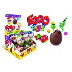 Eggo Toys čoko Egg 25g- Cokoladová vajíčka s hračkou